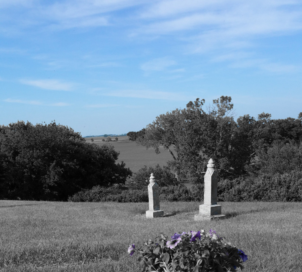 Elijah's Graveside View with blue sky